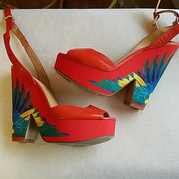 d02835eb5c8ef NWT Nine West Brazil platform heels